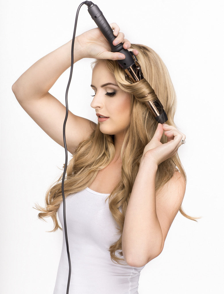 32mm Rose Gold Curling Iron With Clamp- ON BACKORDER