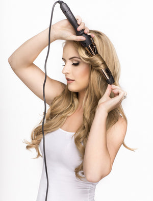 32mm Curling Iron With Clamp (Rose Gold) - ON BACKORDER (Ships Nov) - BOMBAY HAIR  - Curling Iron