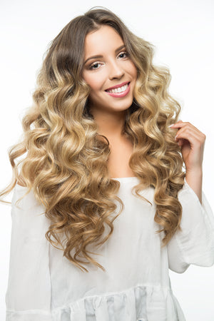 "Ash Brown (8) 20"" 220g - BOMBAY HAIR  - 20"" Clip In Extensions"