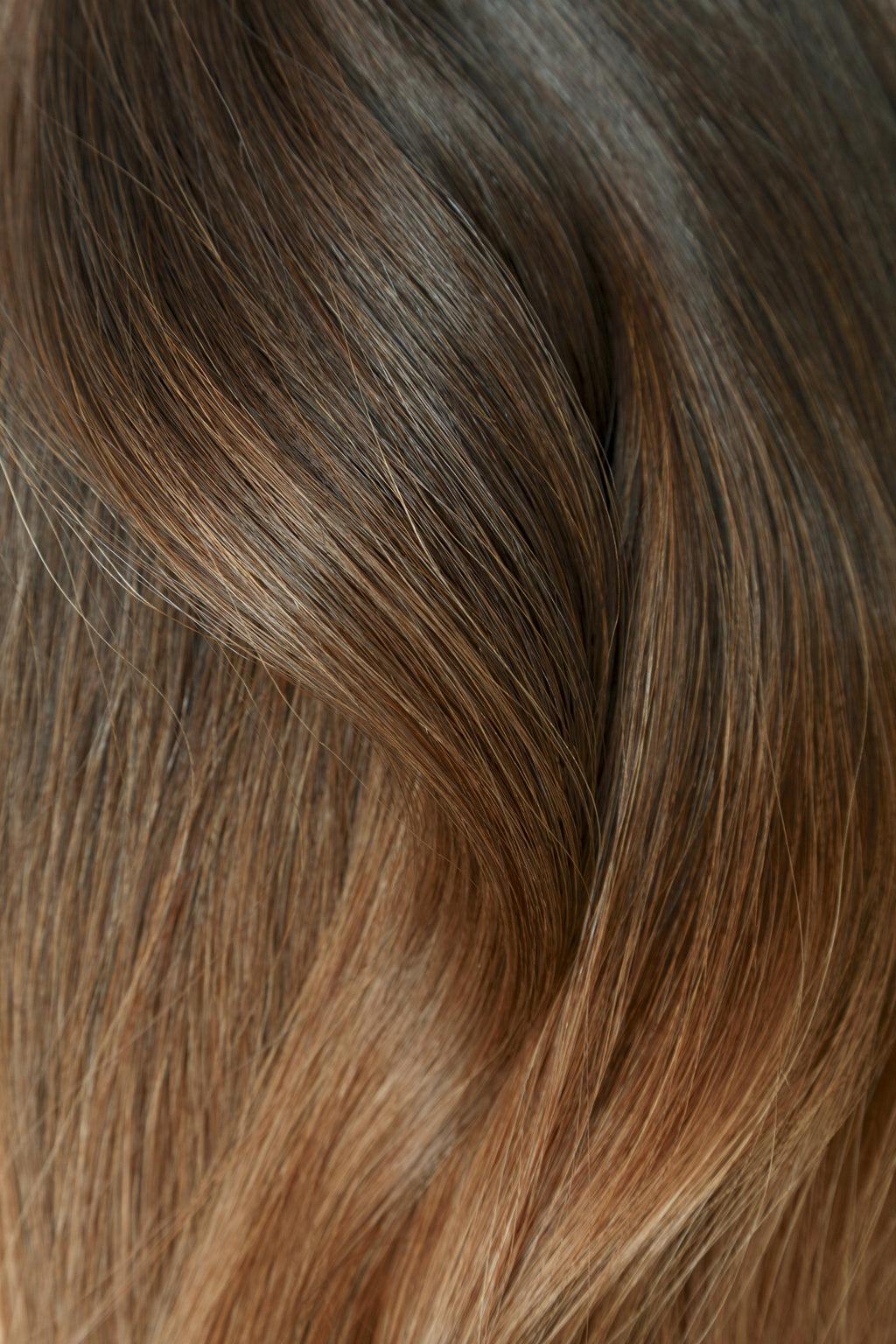 "Ombre - Espresso (#1C) to Caramel Brown (#4) 16"" Tape"
