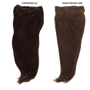 "Dark Brown (2B) 18"" 125g - BOMBAY HAIR  - 18"" Clip In Extensions"