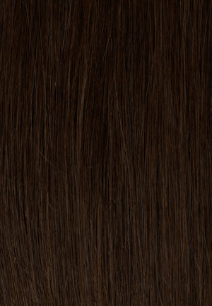 "Dark Brown (2B) 18"" 190g - BOMBAY HAIR  - 18"" Clip In Extensions"