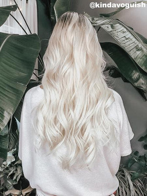 "White Blonde (#60B) 22"" Tape (50g) - BOMBAY HAIR  - Blonde Tape Hair"