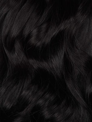 "Jet Black (#1) 20"" Keratin Tip- ON BACKORDER"