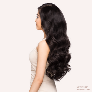 "Off Black (1B) 22"" 220g - BOMBAY HAIR  - 22"" Clip In Extensions"