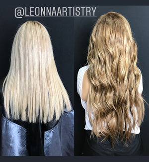 "Highlight - (Ash Brown #9 / Dirty Blonde #18B) 22"" Tape - BOMBAY HAIR  - Tape-In 22"" 50g"