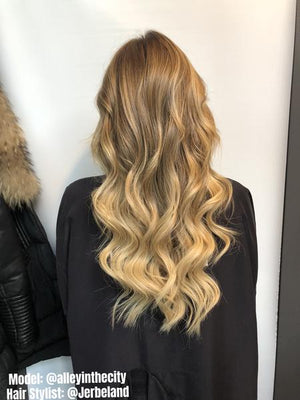 "Ombre - Dark Brown (#2) to Ash Brown (#9) 20"" Tape - BOMBAY HAIR  - Tape-In 20"" 50g"