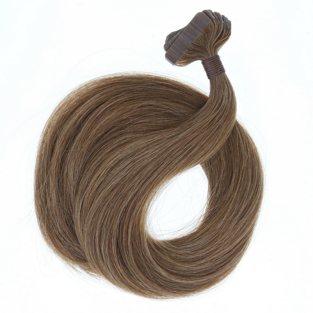 "Highlight - (Chocolate Brown #4 / Ash Brown #9) 22"" Tape - BOMBAY HAIR  - Tape-In 22"" 50g"
