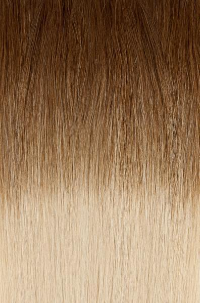 "Ombre - Caramel Brown (#4) to Dirty Blonde (#18B) 20"" Fusion"