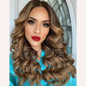 "Espresso Caramel (2/5B) 18"" 125g - BOMBAY HAIR  - 18"" Clip In Extensions"