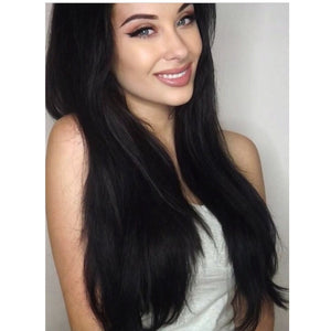 "Jet Black (1) 18"" 125g - BOMBAY HAIR  - 18"" Clip In Extensions"