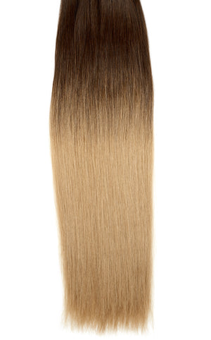 "Ombre - Dark Brown (#2) to Ash Brown (#9) 20"" Tape- ON BACKORDER - BOMBAY HAIR  - Tape-In 20"" 50g"