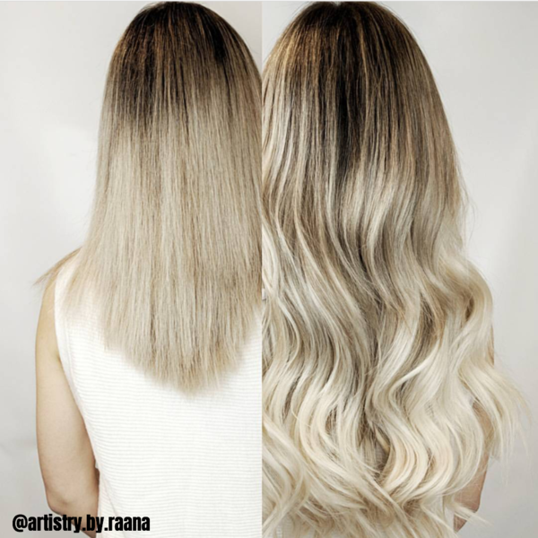 "Rooted - Espresso #1C to White Blonde #60B 20"" Tape"