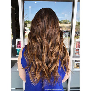 Ombre - Espresso (#1C) to Caramel Brown (#4) Tape (50g) - BOMBAY HAIR  - Ombre Tape Hair