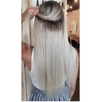 Rooted - (Espresso #1C to White Blonde #60B) Invisible Tape (25g) 20""