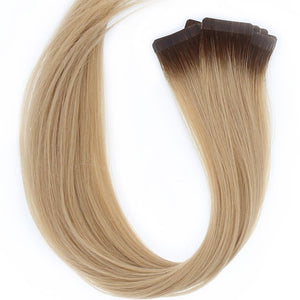 "Rooted - Dark Brown #2 to Dirty Blonde #18B 22"" Tape"