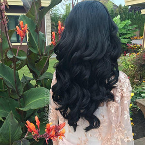 "Jet Black (1) 20"" 160g - BOMBAY HAIR  - 20"" Clip In Extensions"