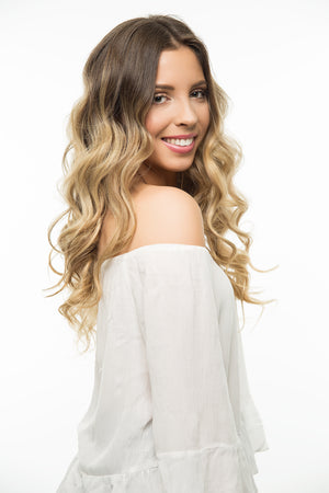 "Ash Brown (8) 18"" 125g- ON BACKORDER - BOMBAY HAIR  - 18"" Clip In Extensions"