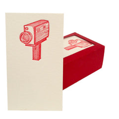Movie Camera Letterpress Business Cards