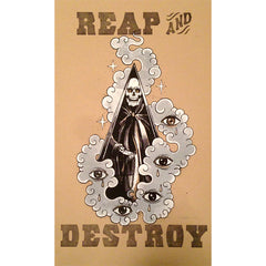 "Nathan Kostechko X Old Star ""REAP AND DESTROY"" Poster"