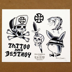 "Dressen X Old Star ""Tattoo and Destroy"" Print"