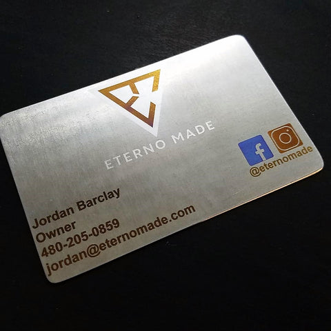 Titanium Business Cards - Single Sided