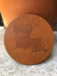 Louisiana Leather Coaster