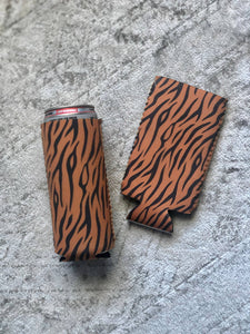 Mint Elephant Apparel - Tiger print Slim Can Holder