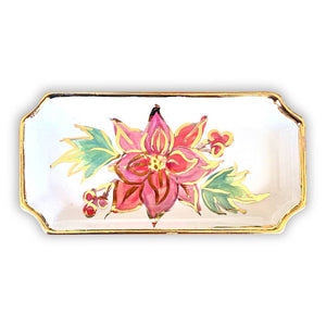 Poinsettia Orleans Tray