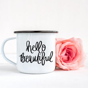Sweet Water Decor - Hello Beautiful Campfire Mug