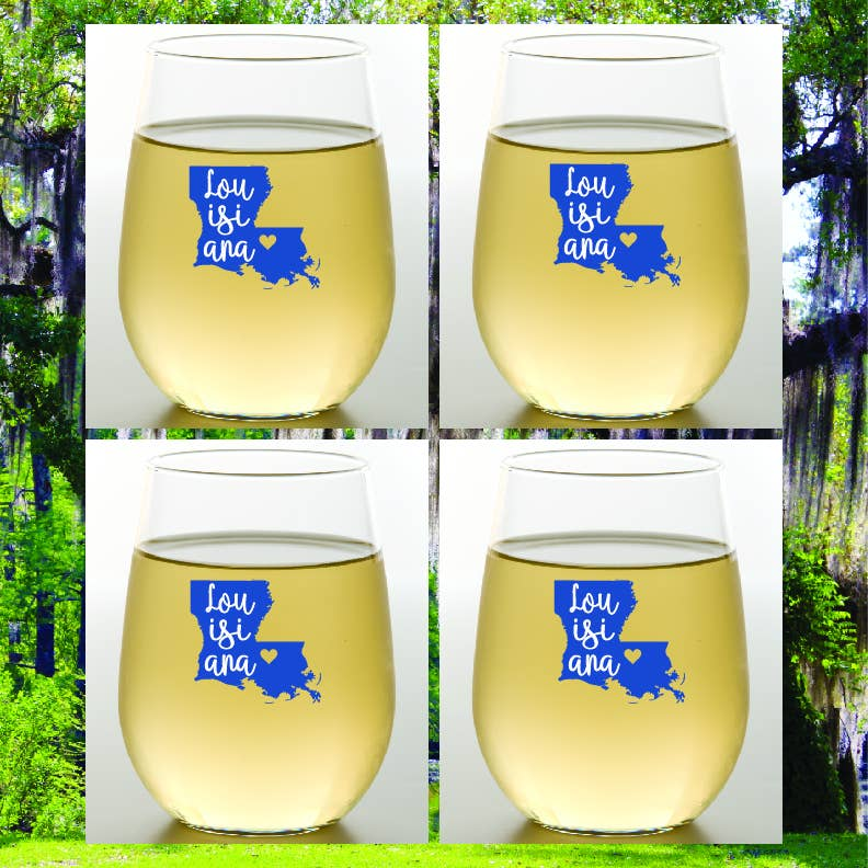 LOUISIANA Shatterproof Wine Glasses