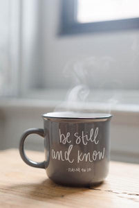 Sweet Water Decor - Be Still And Know Psalm 46:10 Scripture Campfire Mug