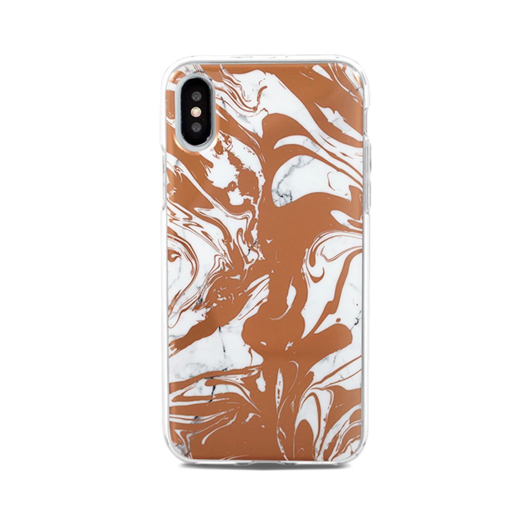 End Scene - iPhone Case - Copper Marble Swirl
