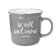 Load image into Gallery viewer, Sweet Water Decor - Be Still And Know Psalm 46:10 Scripture Campfire Mug