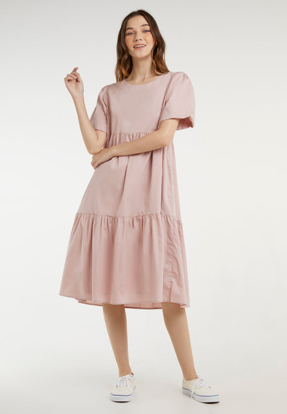 Abigail Dress - Dusty Pink