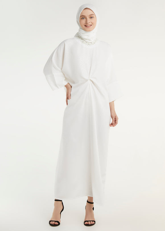 Angelica Sequins Kaftan - Offwhite