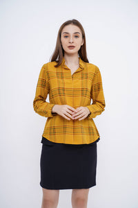 Moza Top Yellow Plaid
