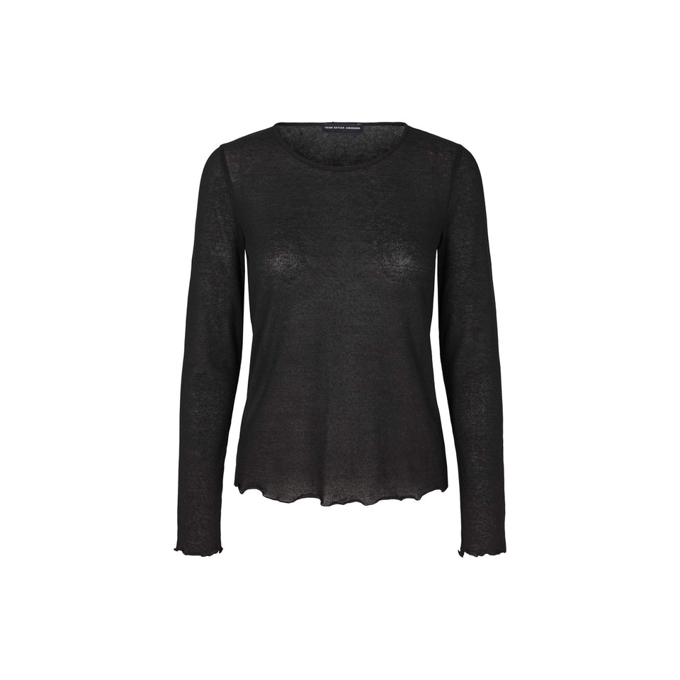 BLOUSE ENOLA - COTTON - BLACK - TRINE KRYGER SIMONSEN