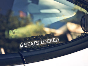 Set of Seats Locked Stickers