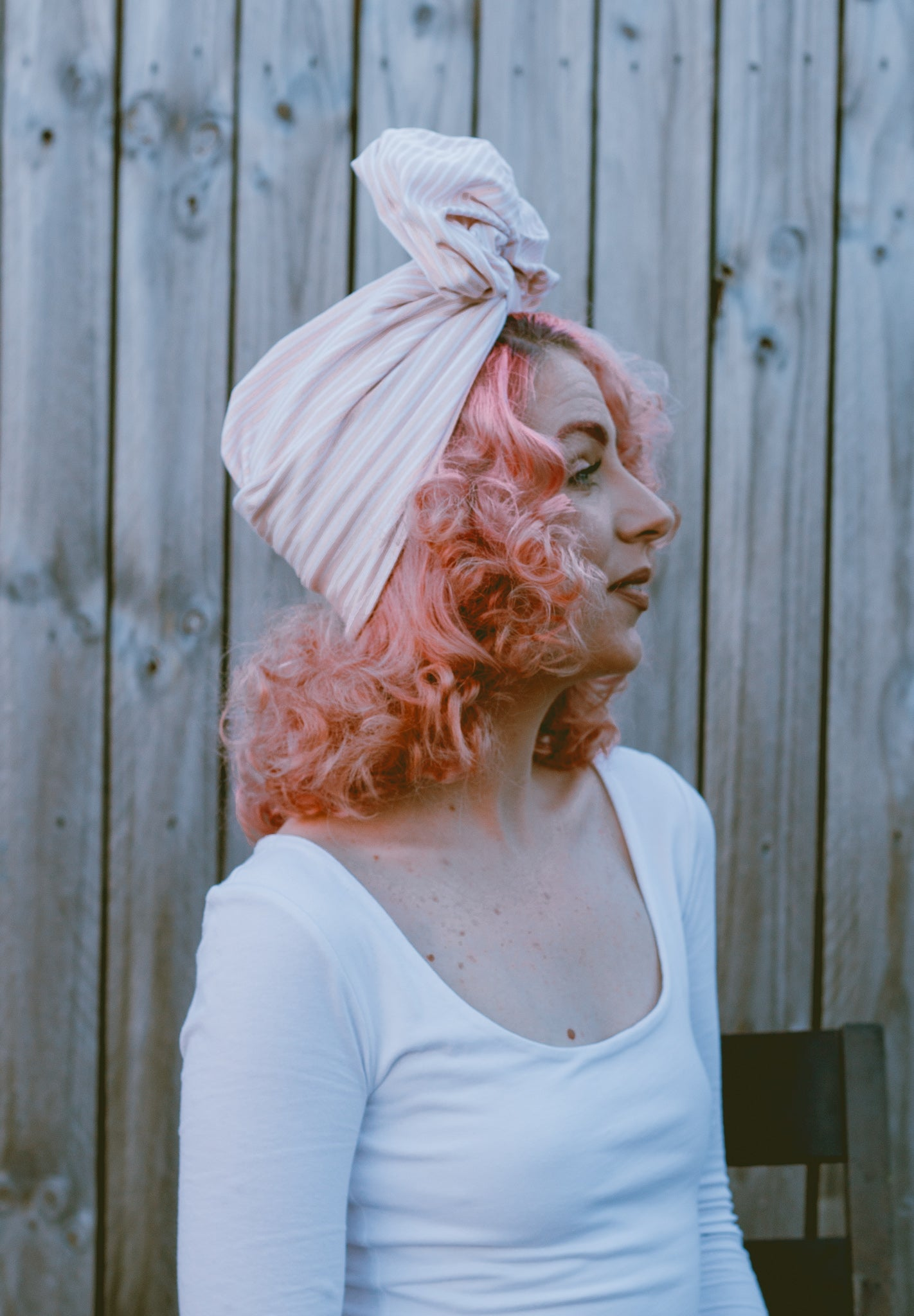 Stripes | Full Turban Blush