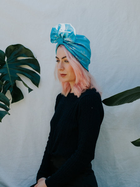 Frozen | Full Turban - Blue Snowflake