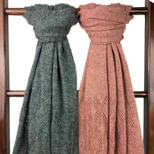 Load image into Gallery viewer, Rose Eyelet Alpaca Scarf.