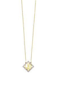 SM Block Diamond Shape Monogram