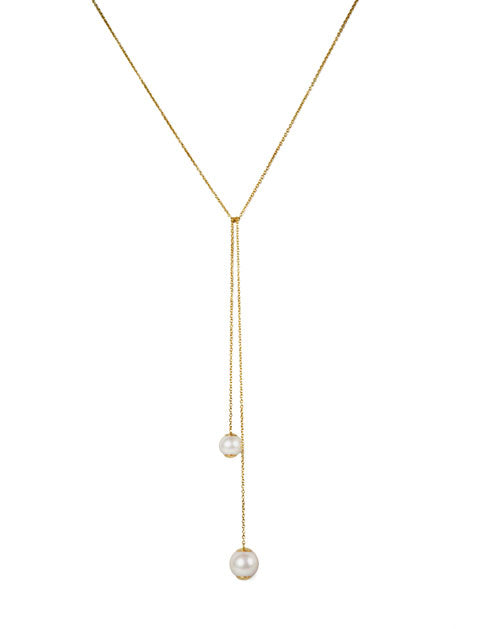 Double Pearl Lariat