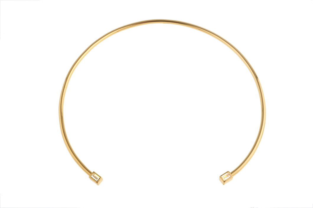 Bezel Rectangle Choker