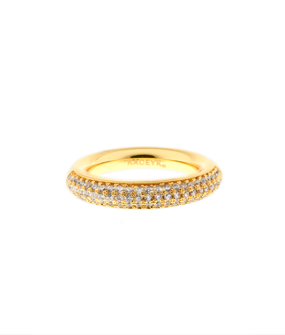 Pave Tube Ring