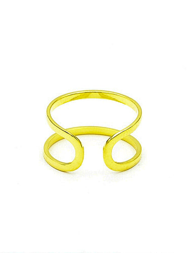 Dual Bar Knuckle Ring.