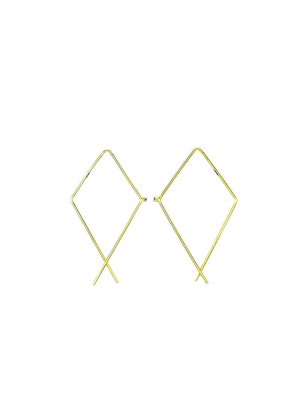 Wide Rectangle Earrings.