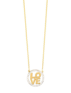 Block Letter Love Necklace.