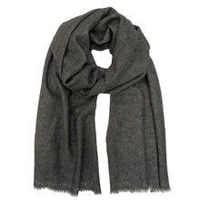 Load image into Gallery viewer, Charcoal Handloom  Cashmere Scarf.